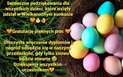 Zakończenie konkursu Wielkanocnego